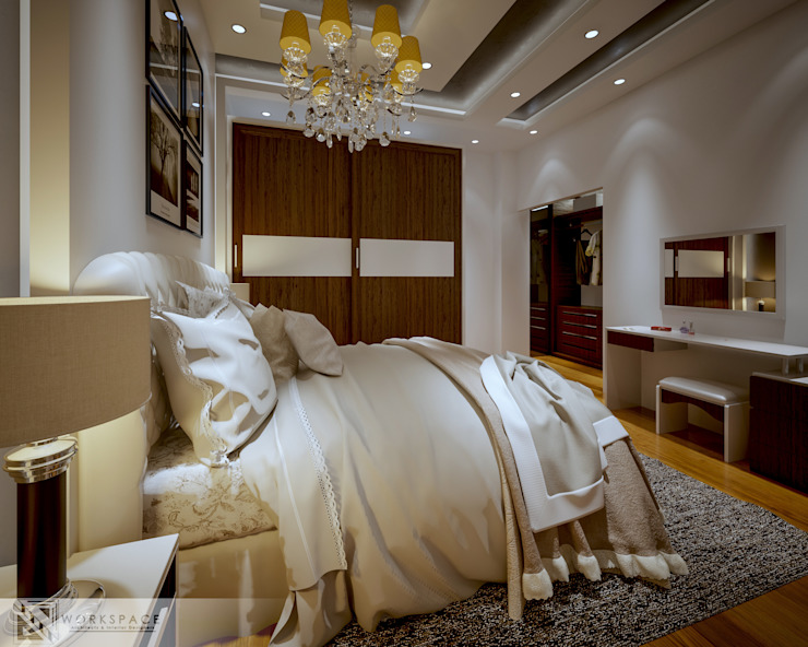 Fainted light | Modern Bedroom : modern  by WORKSPACE architects & interior designers, Modern