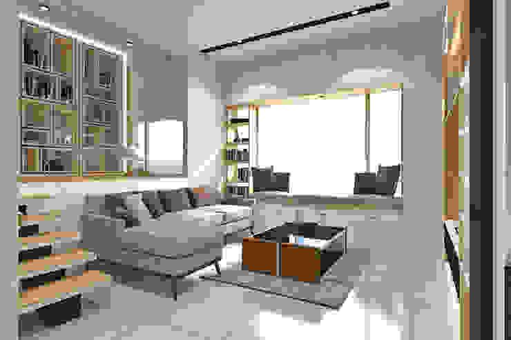 Living Room Area - Pantai Indah Kapuk Ruang Keluarga Modern Oleh SINAR JAYA DESIGN Modern Kayu Lapis