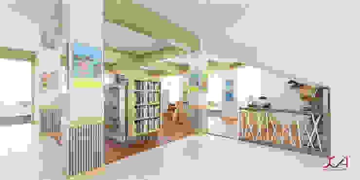 Area Kasir dan Display Buku Kantor & Toko Minimalis Oleh SCIArchitecture Minimalis Kayu Lapis