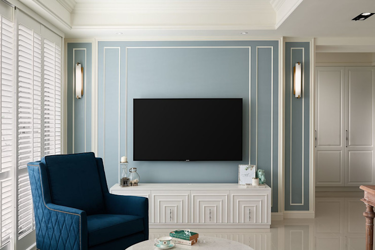 Sunny.Boudoir 理絲室內設計有限公司 Ris Interior Design Co., Ltd. 客廳 Blue