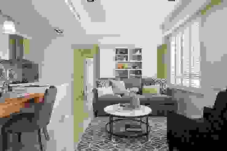 Sunny.Boudoir 理絲室內設計有限公司 Ris Interior Design Co., Ltd. 客廳 White