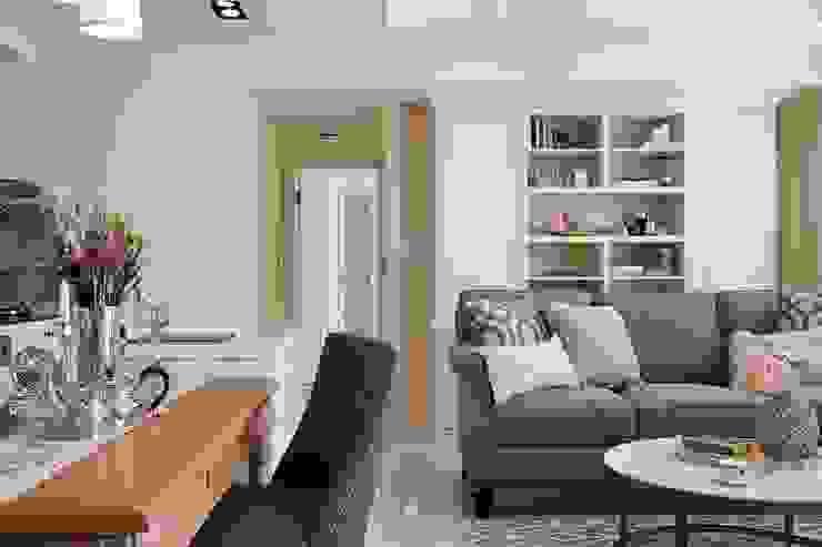 Sunny.Boudoir 理絲室內設計有限公司 Ris Interior Design Co., Ltd. 餐廳椅子與長凳 Brown