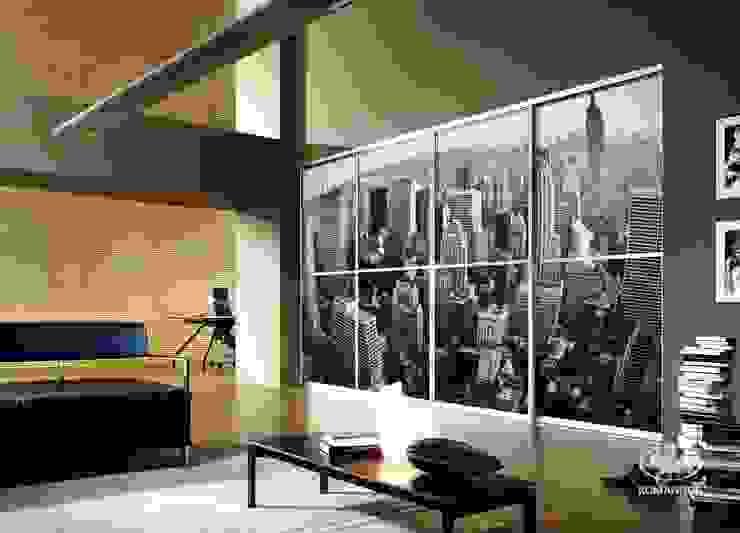 Komandor - Wnętrza z charakterem Living roomStorage Glass Multicolored