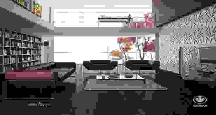 Komandor - Wnętrza z charakterem Living roomShelves Chipboard White