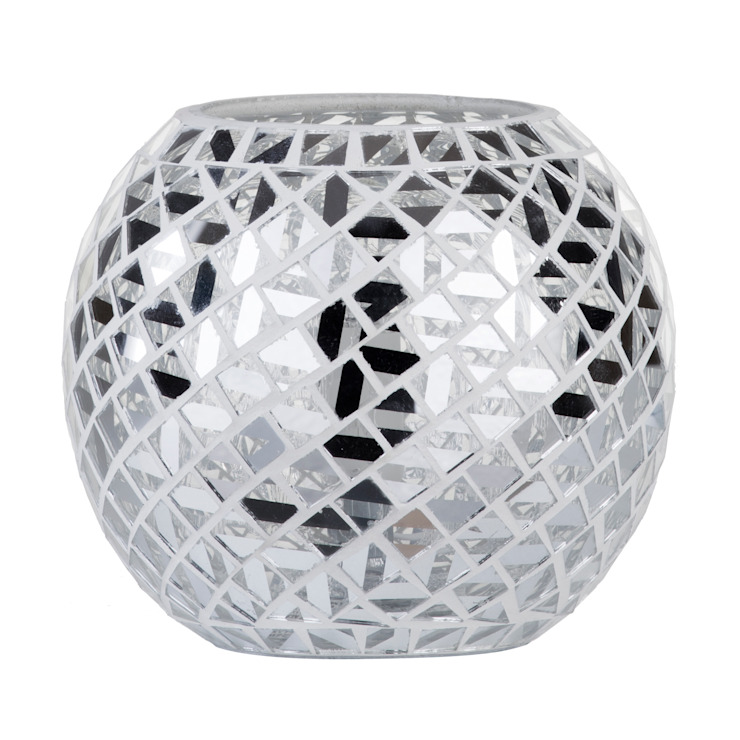 Mosaic Mirrored Table Lamp - Chrome Litecraft Living roomLighting Glass Metallic/Silver