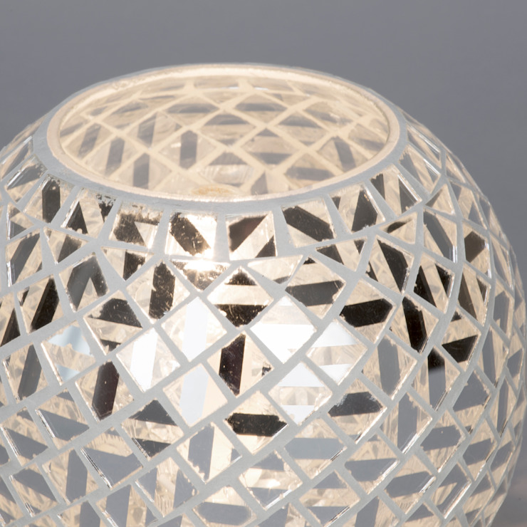 Mosaic Mirrored Table Lamp - Chrome Litecraft Living roomLighting