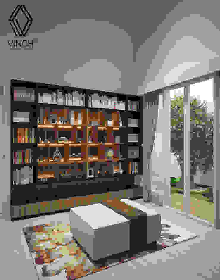 Library Area Ruang Keluarga Modern Oleh Vinch Interior Modern