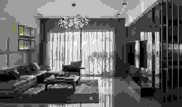璀璨.脈脈|Van der Vein 现代客厅設計點子、靈感 & 圖片 根據 理絲室內設計有限公司 Ris Interior Design Co., Ltd. 現代風