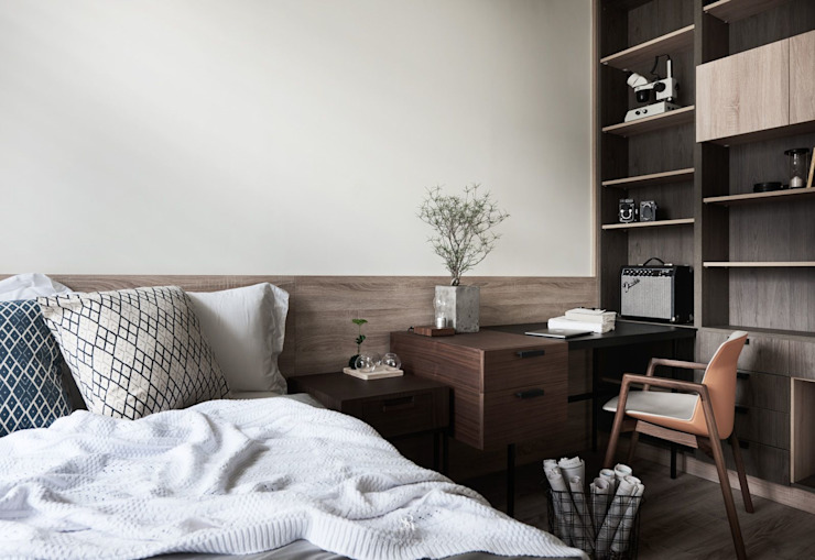 理絲室內設計有限公司 Ris Interior Design Co., Ltd. Scandinavian style bedroom Wood effect
