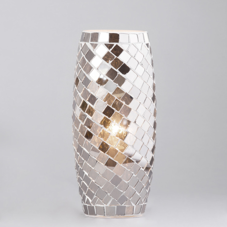1 Light Mosaic Table Lamp - Silver Litecraft Living roomLighting