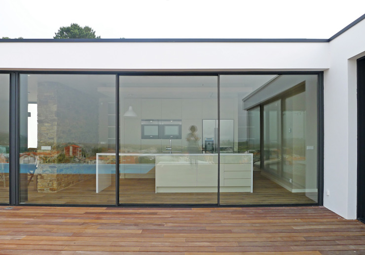 AD+ arquitectura Single family home Glass White