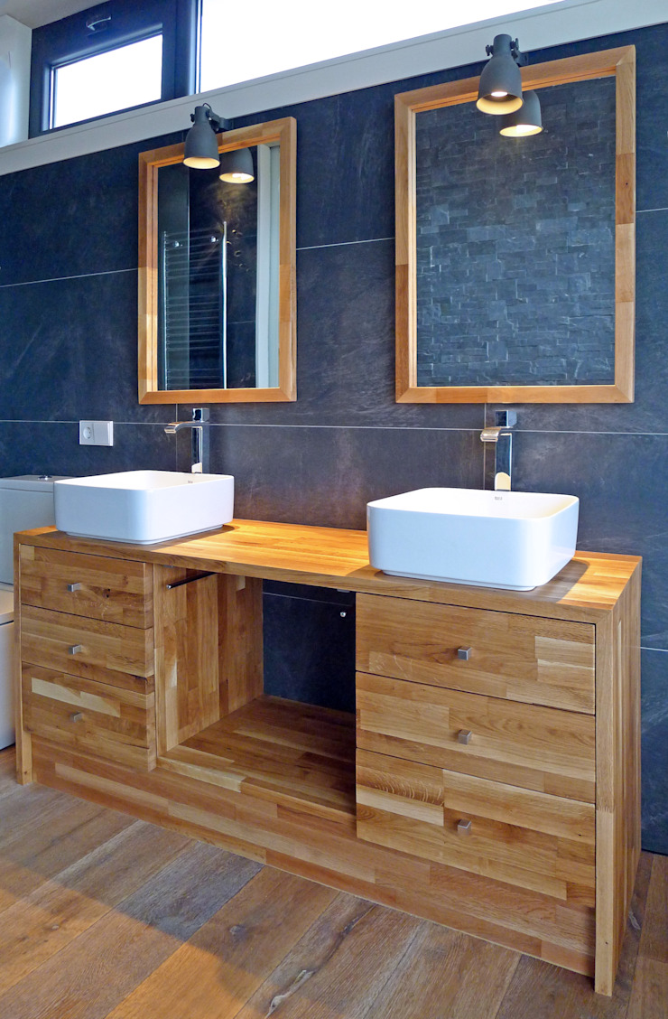 AD+ arquitectura Modern Bathroom Wood Blue