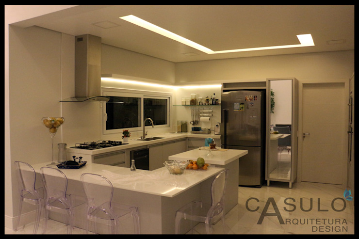 casulo arquitetura design KitchenCabinets & shelves