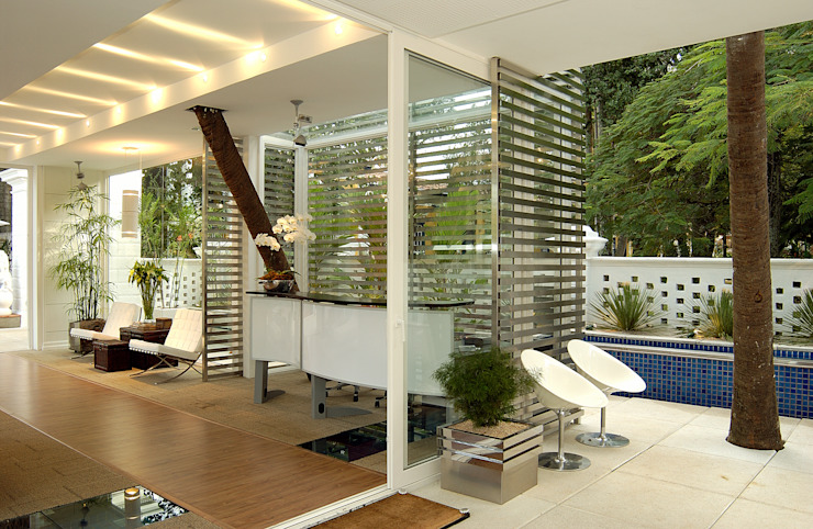 Izilda Moraes Arquitetura ห้องโถงทางเดินและบันไดสมัยใหม่