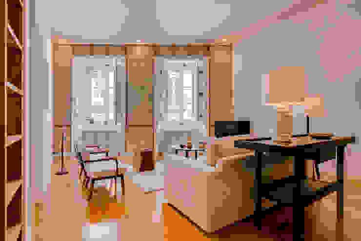 Apartamento Rua Boavista / Lisboa - Apartment in Rua Boavista / Lisbon Ivo Santos Multimédia Salas de estar modernas