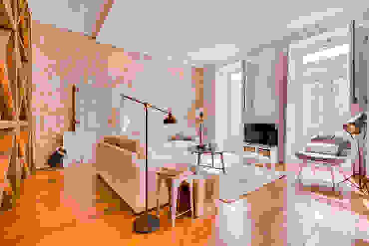 Apartamento Rua Boavista / Lisboa – Apartment in Rua Boavista / Lisbon Ivo Santos Multimédia Salas de estar modernas