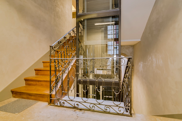 Apartamento Rua Boavista / Lisboa – Apartment in Rua Boavista / Lisbon Ivo Santos Multimédia Corredores, halls e escadas modernos