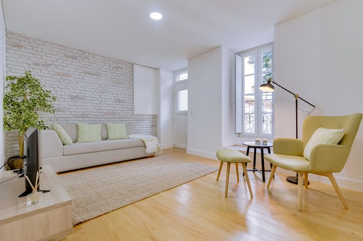 Apartamentos Alfama / Lisboa – Apartments in Alfama / Lisbon Ivo Santos Multimédia Salas de estar modernas
