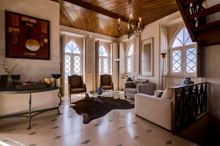 Luxuosa Villa S. Pedro Estoril / Lisboa - Luxury Villa S. Pedro Estoril / Lisbon: Salas de estar  por Ivo Santos Multimédia,Rústico