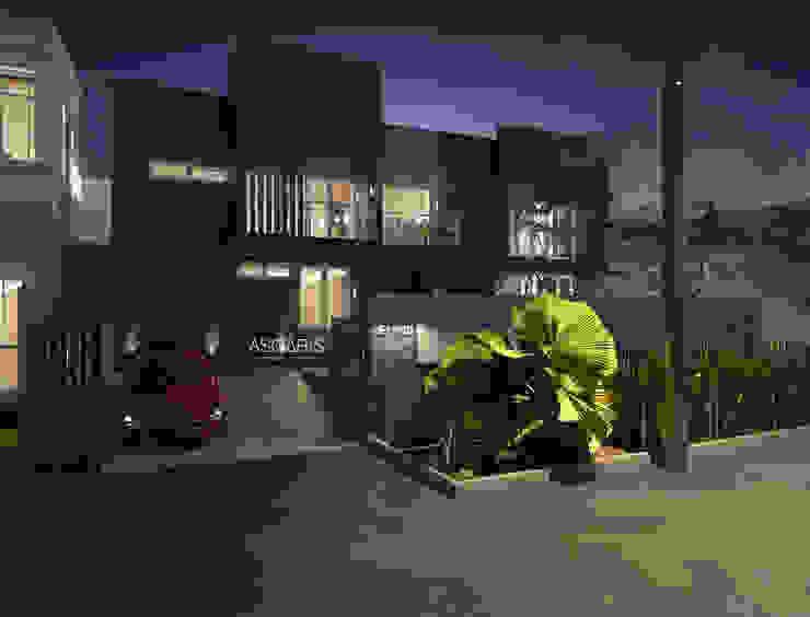 House at Taman Ratu Oleh ASGARIS studio Minimalis Kayu Wood effect