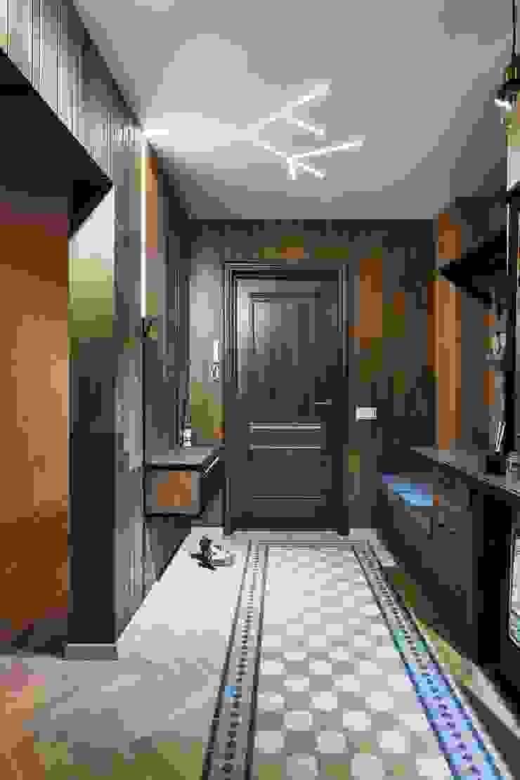 Галина Глебова industrial style corridor, hallway & stairs