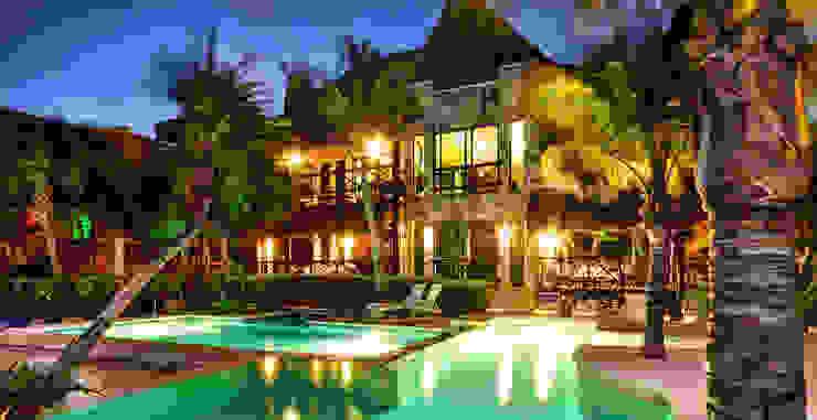 Soliman Bay Luxury Cabaña Casas tropicales de DHI Arquitectos y Constructores de la Riviera Maya Tropical