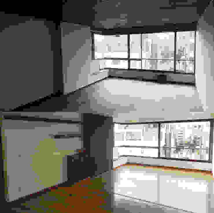 Antes y Después Salón Principal de ANA ESTRADA DISEÑO INTERIOR Moderno