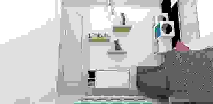 habitacion funcional Habitaciones de estilo escandinavo de Naromi Design Escandinavo Madera Acabado en madera