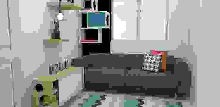 habitación gatos Habitaciones de estilo escandinavo de Naromi Design Escandinavo Madera Acabado en madera