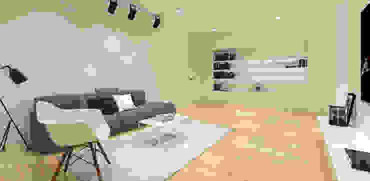 Pluit Residence Ruang Keluarga Minimalis Oleh KERA Design Studio Minimalis