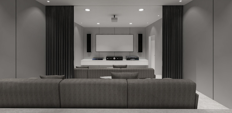 Pluit Residence Ruang Media Minimalis Oleh KERA Design Studio Minimalis