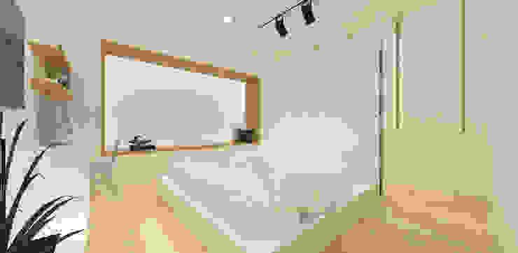 Pluit Residence KERA Design Studio Kamar Tidur Minimalis