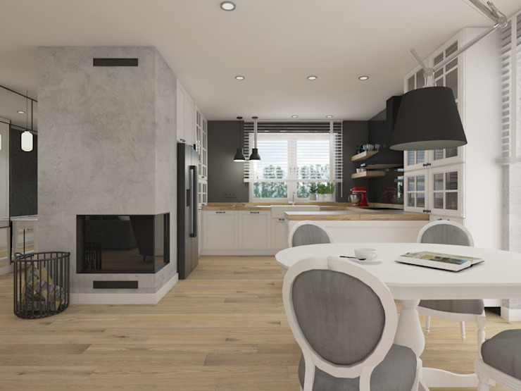 Rustikale Küchen von SO INTERIORS ARCHITEKTURA WNĘTRZ Rustikal