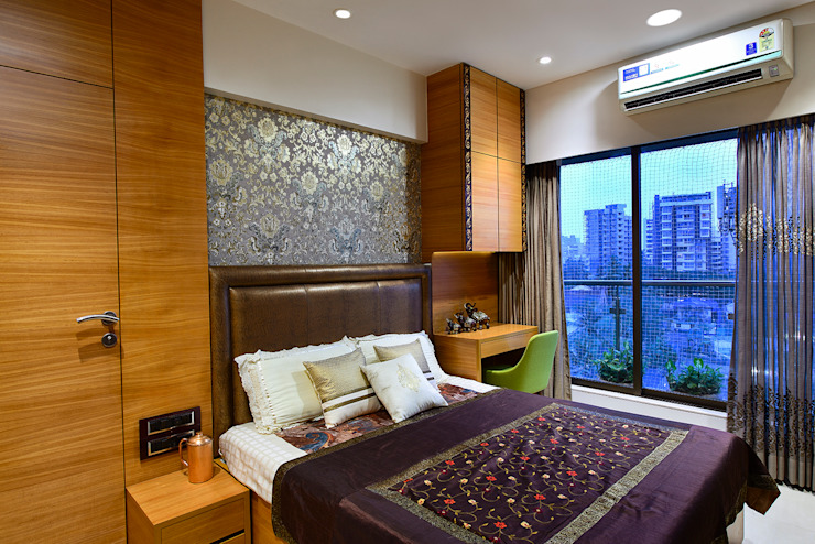 Khar Residence:  Bedroom by SM Studio