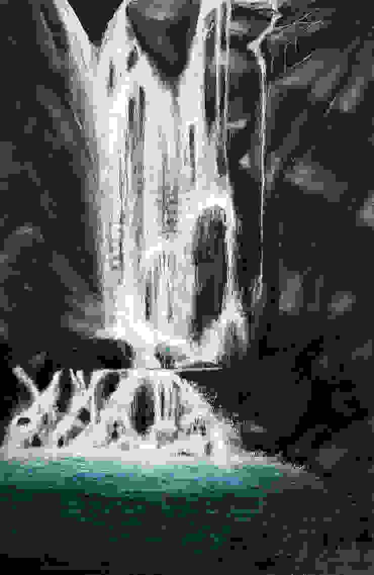 Waterfall: asian  by Indian Art Ideas,Asian