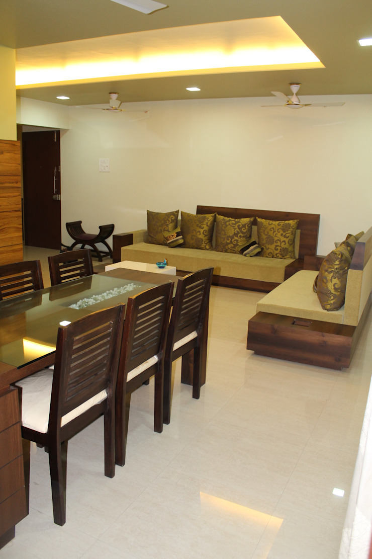 3BHK INTERIORS Modern living room by Finch Architects Modern