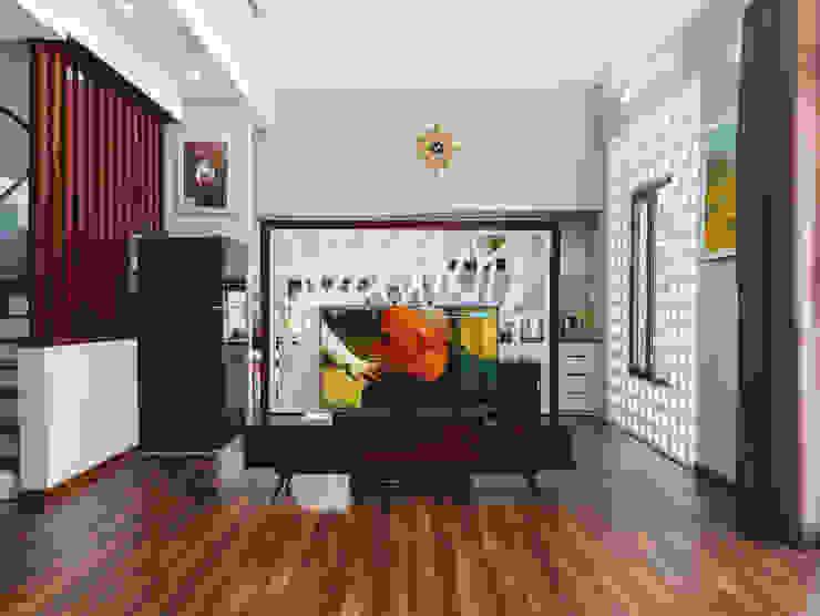 Ruang Keluarga Minimalis Oleh RÂU ARCH Minimalis