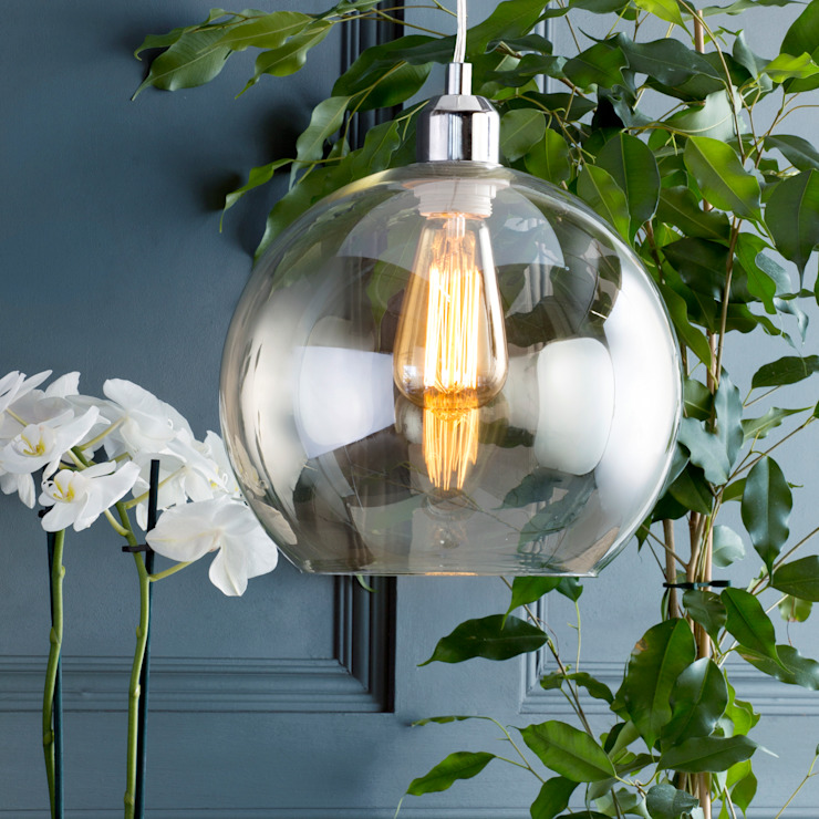 Glass Bowl 1 Light Pendant Shade - Champagne Litecraft Living roomLighting