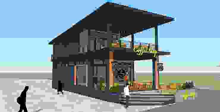 ร้านกาแฟ โดย เขียนแบบ ออกแบบ บ้าน อาคาร รายการคำนวณ