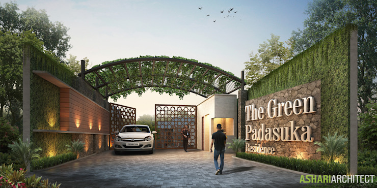 The Green Padasuka Residence Rumah Modern Oleh Ashari Architect Modern