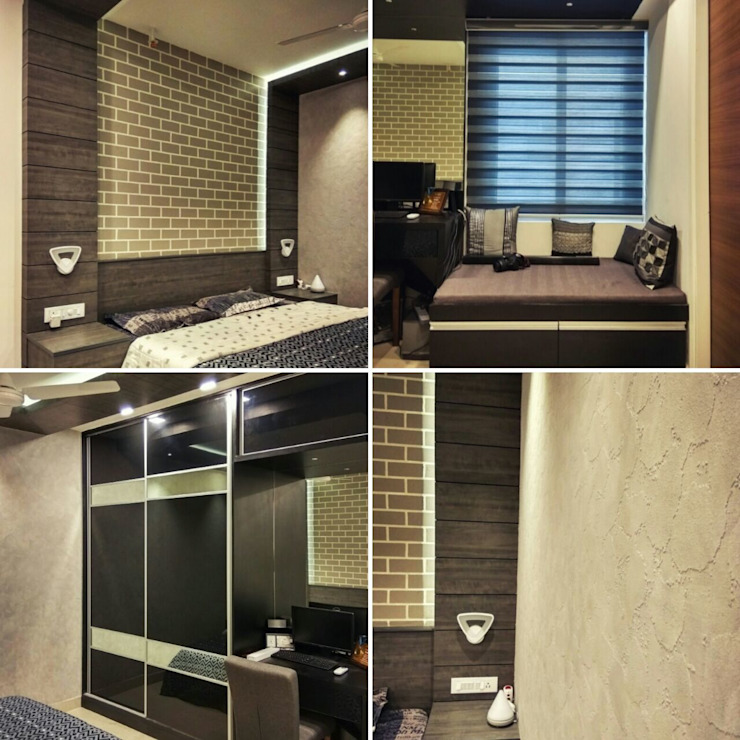 Bedroom Interiors Modern style bedroom by WOODLIFE INTERIOR PRIVATE LTD Modern Glass