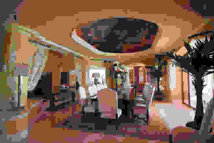 Comedores de estilo ecléctico de DHI Riviera Maya Architects & Contractors Ecléctico