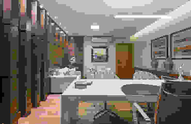 Charis Guernieri Arquitetura Modern Study Room and Home Office