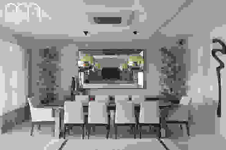 Apartamento JF Barra da Tijuca Rio de Janeiro Paula Müller Arquitetura e Design de Interiores Salas de jantar modernas