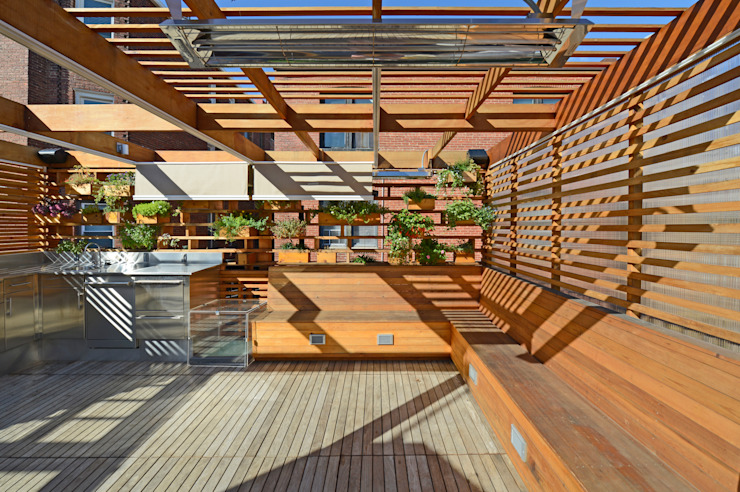DC Roof Deck Modern Terrace by ARCHI-TEXTUAL, PLLC Modern
