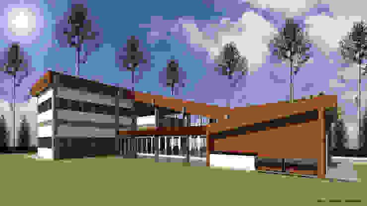 VU – 3 – VIVIENDA RESIDENCIAL UNIFAMILIAR de RR Arquitecto Moderno Concreto