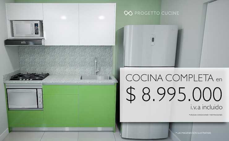 COCINA COMPLETA de Progetto Cucine Moderno