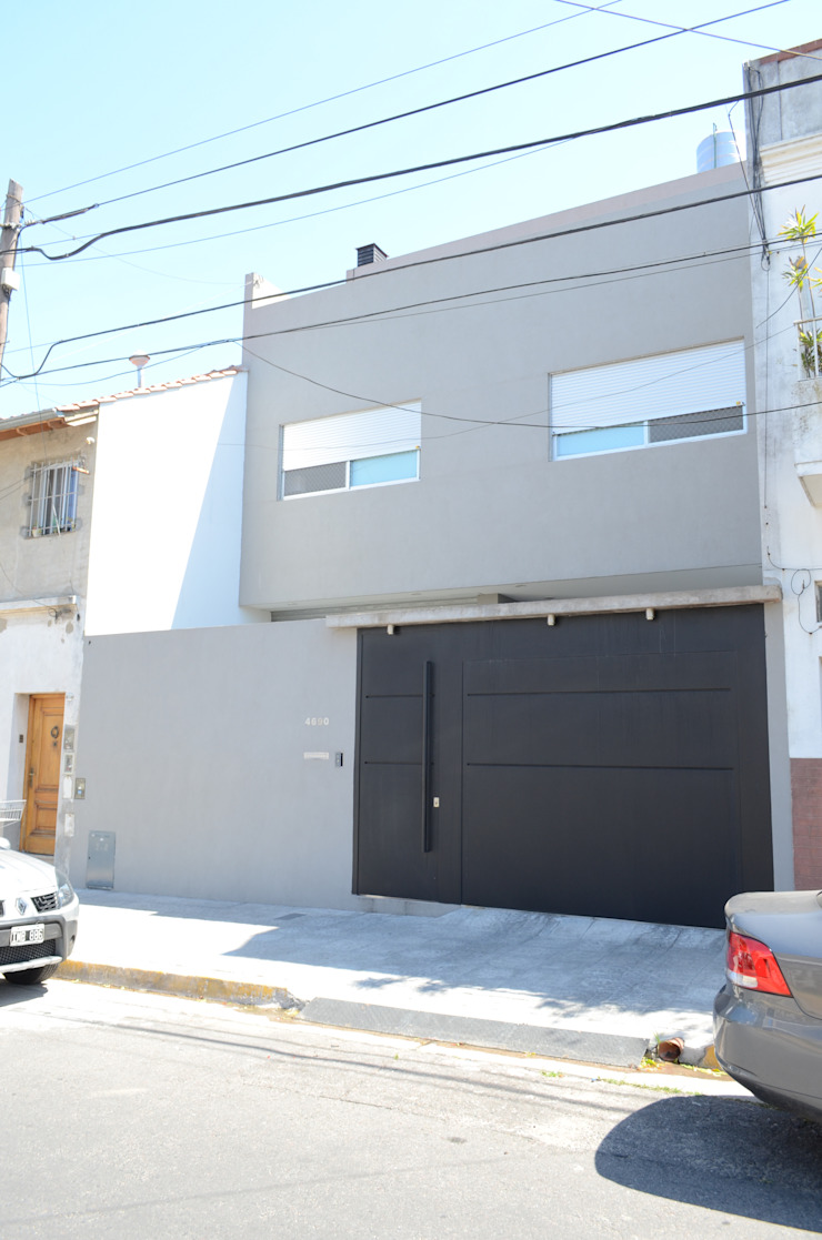 Fachada casa urbana Casas modernas: Ideas, imágenes y decoración de NG Estudio Moderno Hormigón