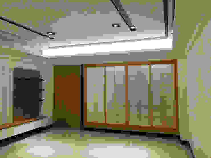 新竹透天厝 黑、白、木紋 經典三色 現代風玄關、走廊與階梯 根據 捷士空間設計(省錢裝潢) 現代風