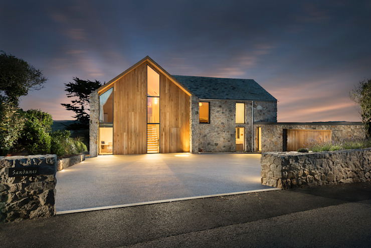 Contemporary Replacement Dwelling, Cubert by Laurence Associates Modern Granite